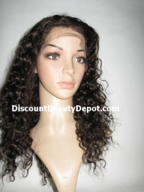 Deep Wavy Color #1B Lace Front Wig