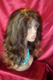 Custom Body Wave Full Lace Wig Color #2/27