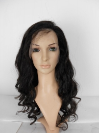 Chinese Full lace Wig Wavy Silk Top