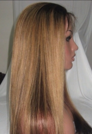 Custom Straight Two Tone Full Lace Wigs