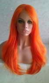 orange-synthetic-lace-front-wig-3
