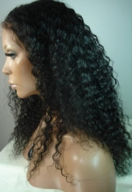 Deep Wavy Brazilian Color#1 Full Lace Wig