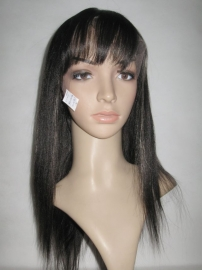 Straight Lace Front Color #1B with Bang
