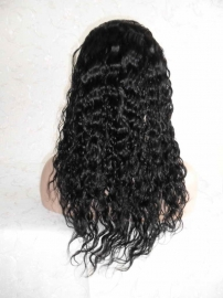 U Part Body Wave Lace Front Wig Color 1B