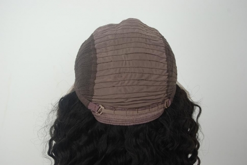 Deep Wave Lace Front Wig Color #1B