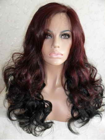 99j & 1b Loose Curl Synthetic Lace Front Wig