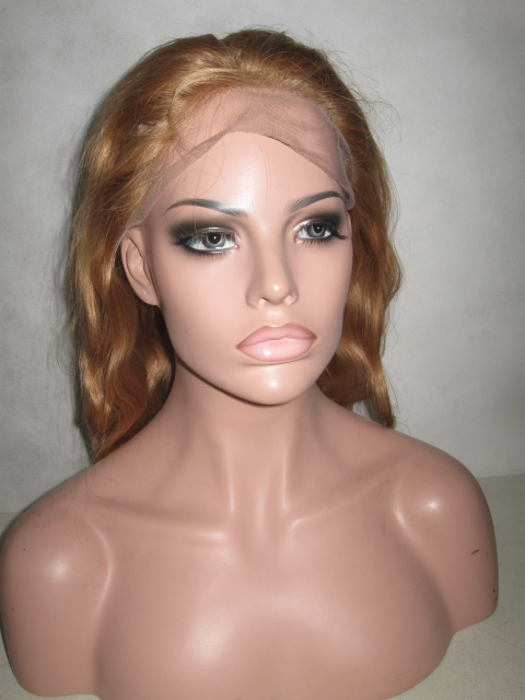 Body Wavy Color #27 Honeyu Blonde Full Lace Wig