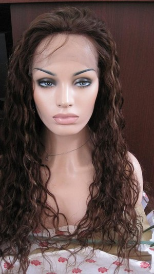 Brazilian Natural Wave Full Lace Wig Color 4/27