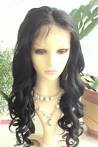 Indian Remy Loose Curls Full Lace Wig