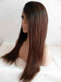 U Part T Color 1B #3 Straight Lace Front Wig Color