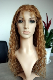 Brazilian Wavy Full Lace Wig Color #8