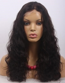 Chinese Wavy Full Lace Wig Color #1