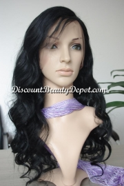 Brazilian Wavy Full Lace Wig Color #1