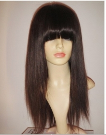 Brazilian Color #2 with Bang Full Lace Wig
