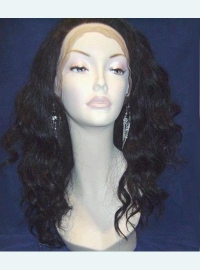 Wavy Color #1 Full Lace Indian Remy Wig