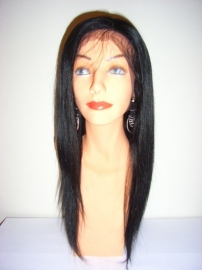 Indian Remy Full Lace Wig Color #1