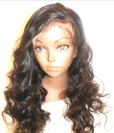 Chinese Full lace Wig Big Body Wavy Color #1