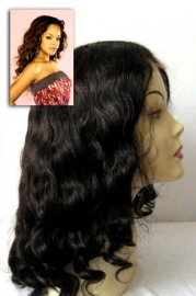 Wavy Color#1 Full Lace Wig
