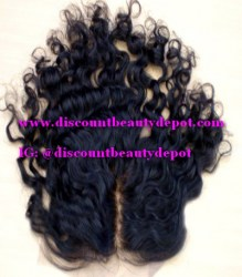 Curly Silky Top Closure